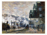 Gare St. Lazare, the Western Docks, 1877 Giclee Print by Claude Monet