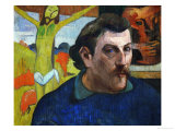 Self-Portrait with Yellow Christ, 1890-1891 Giclee Print by Paul Gauguin