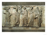 Central Scene of the East Frieze of the Parthenon, The Acropolis, Athens Giclee Print