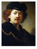 Portrait of the Artist with Cap and Gold Chain, 1633 Giclee Print by  Rembrandt van Rijn
