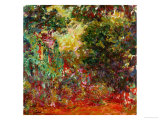 The Artist's House at Giverny, Seen from the Rose Garden, 1922-1924 Giclée-tryk af Claude Monet