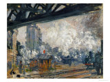 Gare St. Lazare, Seen from the Pont De L'Europe, 1877 Giclee Print by Claude Monet