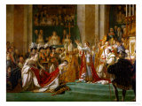 Coronation of Napoleon in Notre-Dame De Paris by Pope Pius VII, December 2, 1804 Gicléetryck av Jacques-Louis David