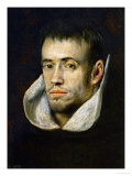Portrait of a Monk (Dominican or Trinitarian) Giclee Print by El Greco