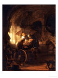 Tobit Heals His Father&#39;s Blindness Giclee Print by Rembrandt van Rijn 