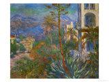 Villas in Bordighera, Italy Giclée-tryk af Claude Monet