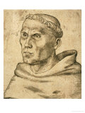 Martin Luther (1483-1546) Gicle-tryk af Lucas Cranach the Elder