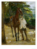 Groom with Horse, 1912 Giclee Print by Max Liebermann