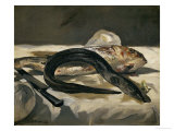 Eel and Red Mullet, 1864 Giclée-Druck von Édouard Manet