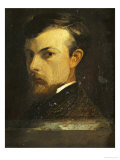 Self-Portrait, 1867 Giclee Print by Odilon Redon