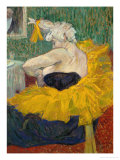 The Clowness Cha-U-Kao, 1895 Lmina gicle por Henri de Toulouse-Lautrec