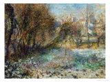 Paysage sous la neige Reproduction procédé giclée par Pierre-Auguste Renoir