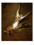 Dead Hare with Poweder Flask and Game-Bag, 1730 Giclee Print by Jean-Baptiste Simeon Chardin
