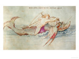 The Greek Poet Arion Riding the Dolphin, Around 1515, Watercolour on Paper Giclee Print by Albrecht Dürer