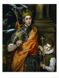 Saint Louis, King of France, and a Pageboy Lámina giclée por  El Greco