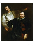 Portraits of the Painters Lucas and Cornelis De Wael Giclée-Druck von Sir Anthony Van Dyck