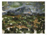 Mont Sainte Victoire Seen from Les Lauves, 1902/06 Giclee Print by Paul Cézanne