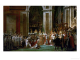 Coronation of Napoleon in Notre-Dame, Paris, by Pope Pius VII Giclee Print by Jacques-Louis David