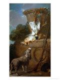The Spaniel, 1730 Giclee Print by Jean-Baptiste Simeon Chardin
