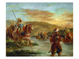 Fording a River in Morocco, 1858 Giclee Print by Eugene Delacroix