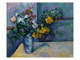 Still Life: Flowers in a Vase Giclee-trykk av Paul Cézanne
