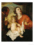 Holy Family, circa 1626-1628 Reproduction proc&#233;d&#233; gicl&#233;e par Sir Anthony Van Dyck