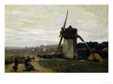 A Windmill Giclee Print by Jean-Baptiste-Camille Corot