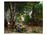 Deer Reserve at Plaisir Fontaine, 1866 Giclee Print by Gustave Courbet