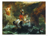 Saint George Fighting the Dragon, Also Called Perseus Delivering Andromeda Giclee Print by Eugene Delacroix