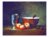 Silver Goblet with Apples Giclee Print by Jean-Baptiste Simeon Chardin