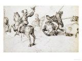 Fencing Book, Original Drawing (Pen and Ink) Giclee Print by Albrecht Dürer