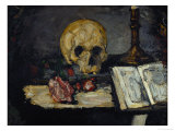 Skull and Candlestick, circa 1866 Giclee Print by Paul Cézanne