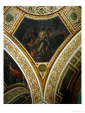 Seneca Cuts His Veins, Frescos from the Spandrels of the Main Hall Giclee Print by Eugene Delacroix