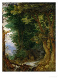 Forest Landscape, 1605-1610 Reproduction proc&#233;d&#233; gicl&#233;e par Jan Brueghel the Elder