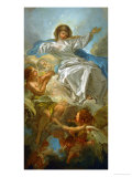Assumption of the Virgin, Sketch for the Altarpiece in St. Sulpice, Paris Giclee Print by Francois Boucher