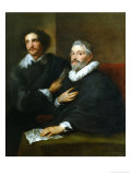 Portaits Two Gem-Cutters Giclee Print by Sir Anthony Van Dyck