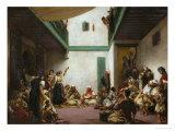 A Jewish Wedding in Morocco, 1839 Giclée-tryk af Eugene Delacroix