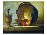 The Copper Cauldron Giclee Print by Jean-Baptiste Simeon Chardin