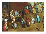 Children's Games Giclee Print by Pieter Bruegel the Elder