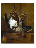 Huppoe, Partridge, Woodcock, and Seville Orange, 1732 Reproduction procédé giclée par Jean-Baptiste Simeon Chardin