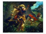 Tiger Hunt, 1854 Giclee Print by Eugene Delacroix