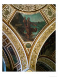 Demosthenes Harangues the Waves, Frescos from the Spandrels of the Main Hall Giclee Print by Eugene Delacroix
