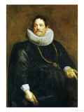 Jean De Montfort (Died 1649), Counsellor, Mint-Master in Brussels 1596-1649 Giclee Print by Sir Anthony Van Dyck
