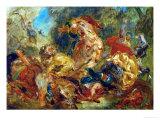 Lion Hunt Giclee Print by Eugene Delacroix
