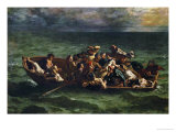 Don Juan's Shipwreck, 1840 Giclee Print by Eugene Delacroix