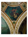 The Education of Achilles, Frescos from the Spandrels of the Main Hall Giclee Print by Eugene Delacroix