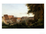The Collosseum, Seen from the Farnese Gardens, 1826 Giclee Print by Jean-Baptiste-Camille Corot