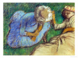 Young Women Resting in a Meadow Giclee Print by Edgar Degas