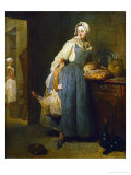 The Cateress, 1739 Giclee Print by Jean-Baptiste Simeon Chardin