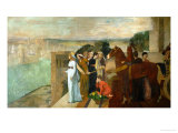 Semiramis Builds Babylon, 1861 Giclee Print by Edgar Degas